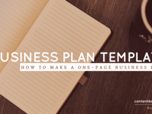 Business Plan Template: How to Make a One-page Business Plan