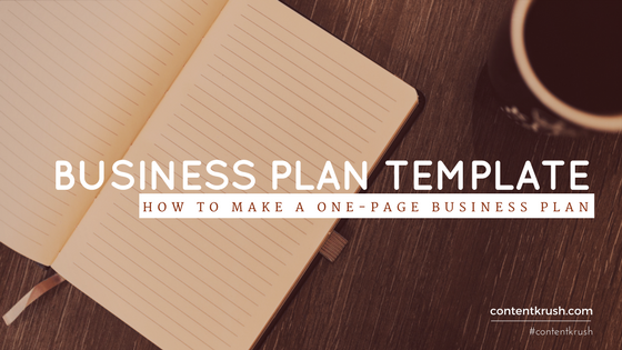 Business plan template how to make a one page business plan fbccfo Choice Image
