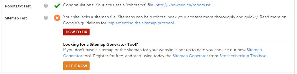 SEO tools for small business -Robots.text file, Sitemap