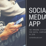 social media app stats for digital campaign