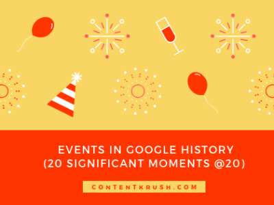 Events in Google History: 20 Significant Moments at 20 Years as a Company