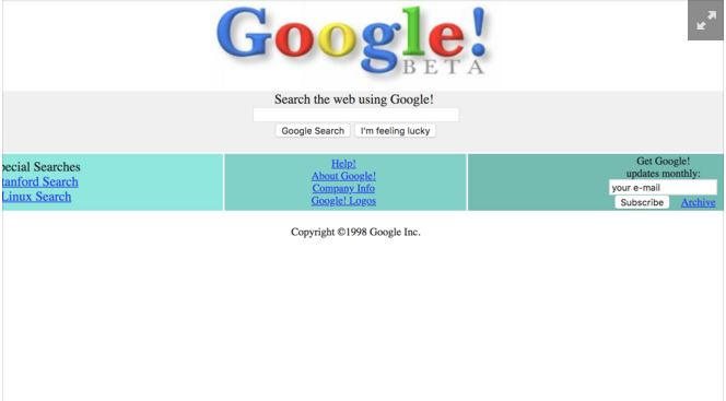major events in google history -Google in Beta stage in Dec 1998