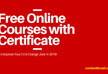 FREE ONLINE COURSES with CERTIFCATE -contentkrush.com