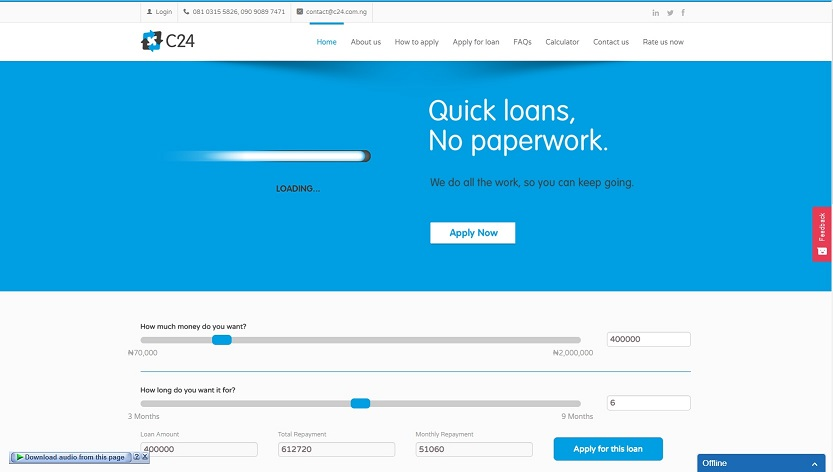 loans in nigeria -C24 for quick cash loans