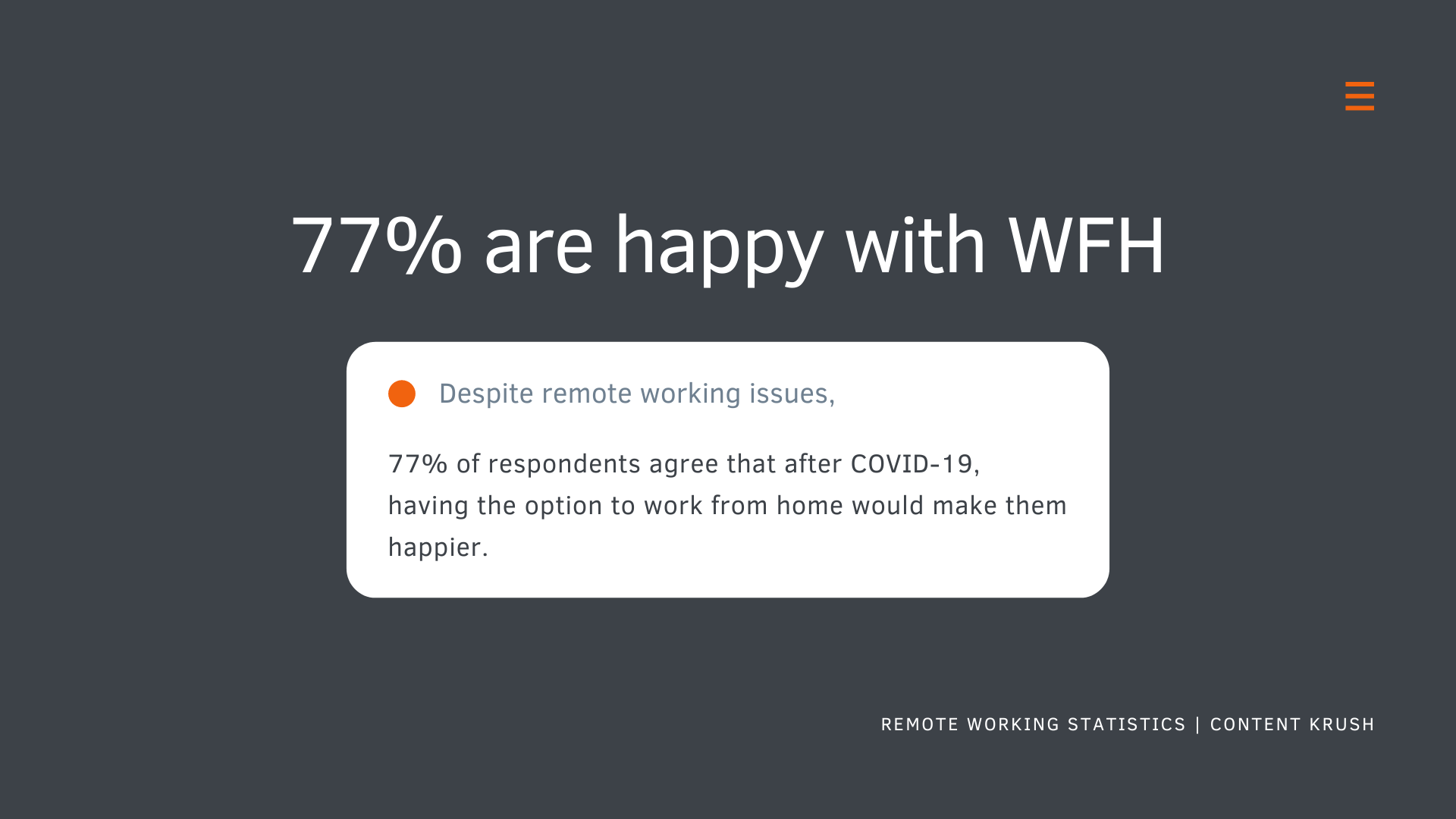 Remote Working Statistics - Why WFH Will Continue Post-COVID19